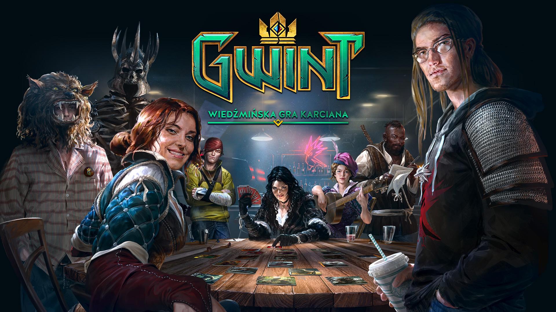 gwint przy stole Gwint   wiedźmińska gra karciana (PC)