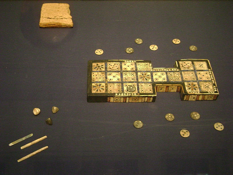 800px Royal game of Urat the British Museum Historia gier planszowych