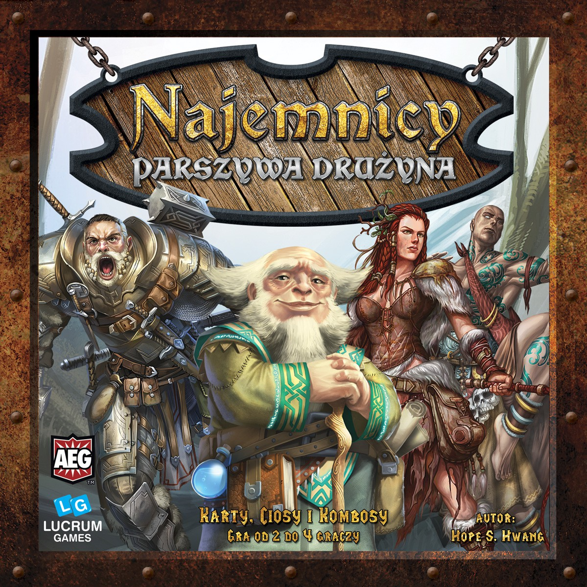 PL Parszywa DruAyna BOX FRONT Recenzja #8 Najemnicy   Trylogia od Lucrum Games