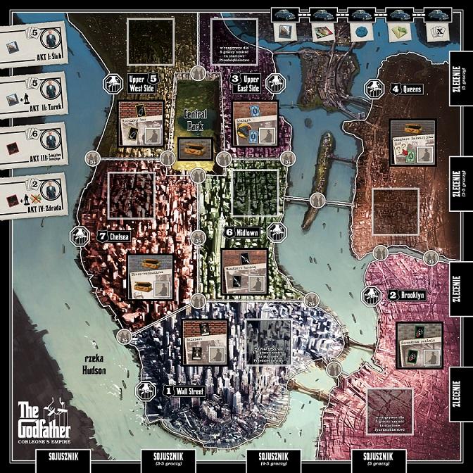 Godfather plansza Na szybko #2   The Godfather: Imperium Corleone   pierwsze wrażenia