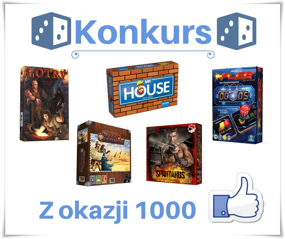 Konkurs Logo Konkurs z okazji 1000 polubień   do wygrania świetne gry.