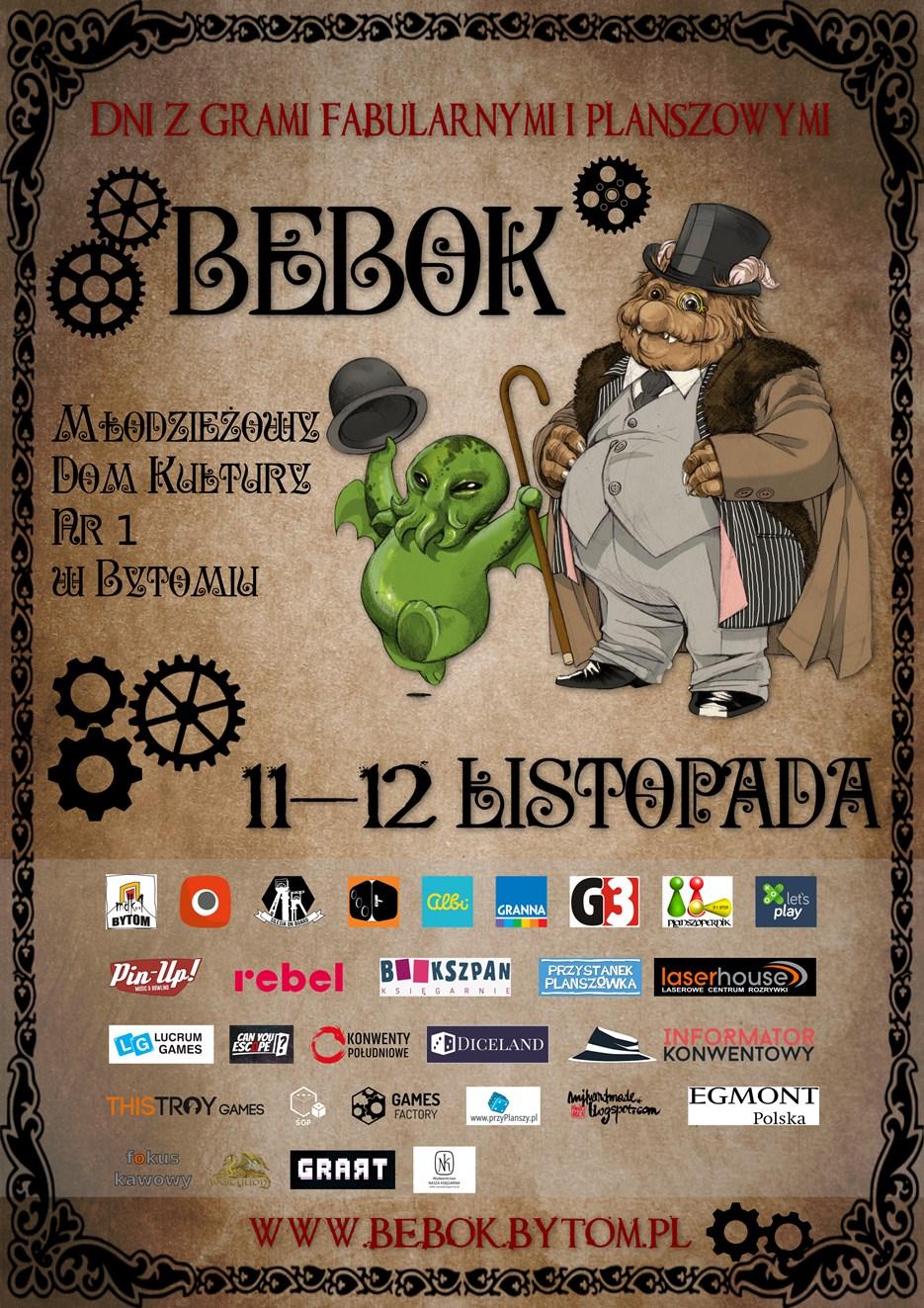 plakat Bebok8 Bebok   dni z grami fabularnymi i planszowymi