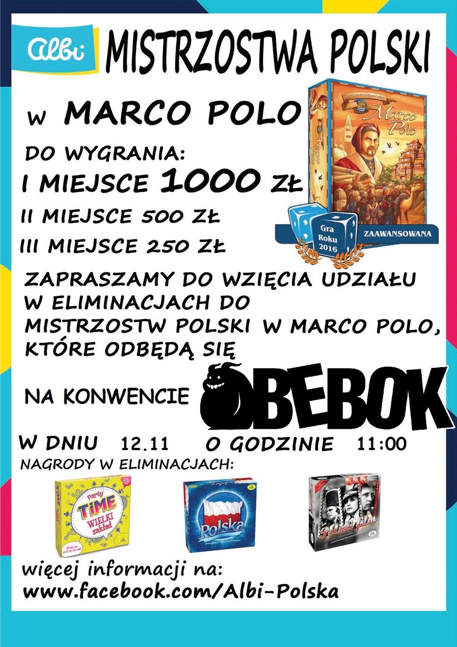 plakat marco polo Bebok   dni z grami fabularnymi i planszowymi